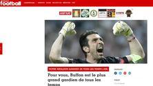 Juventus, France Football: «Buffon? Il miglior portiere di tutti i tempi»