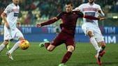 Serie A: Carpi-Roma 1-3:Dzeko si sblocca ed esulta con il ciuccio