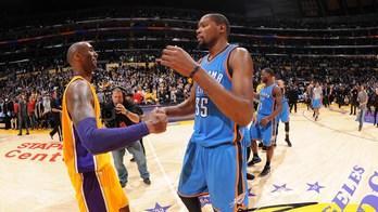 Ultima recita per Kobe, l'emozione di Durant
