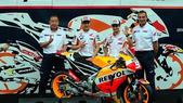 MotoGp, Marquez e Pedrosa presentano la nuova Honda