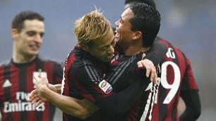 Serie A Milan-Genoa 2-1: Bacca-Honda, due gol per l'Europa