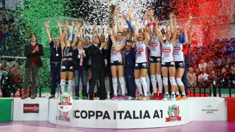 Volley: A1 Femminile, domani i quarti di Coppa Italia