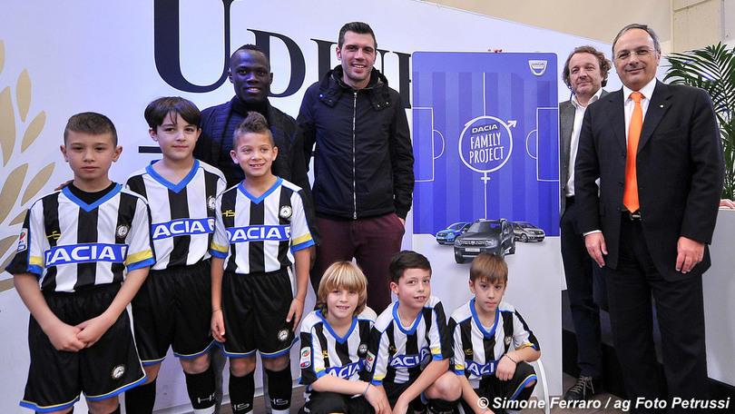 Udinese,#DaciaFamilyProject: porta allo stadio le famiglie