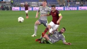 Roma-Real Madrid, rigore su Florenzi: giallorossi furiosi