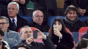 Roma-Real Madrid: Conte, Tavecchio e Lippi, che trio all'Olimpico!