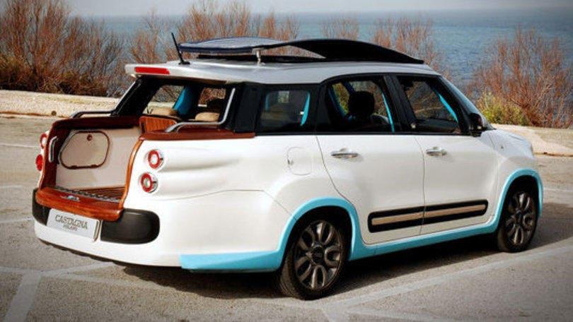 Fiat 500L, a Capri con... l'imperatore
