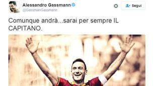 Roma, i tifosi vip commentano il caso Totti