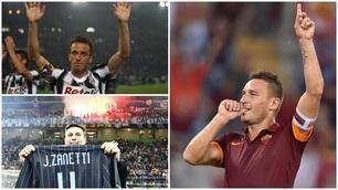 Francesco Totti e le altre bandiere della Serie A