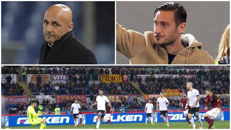 Roma, tifosi spaccati su Totti.Rissa sfiorata in Tribuna Tevere