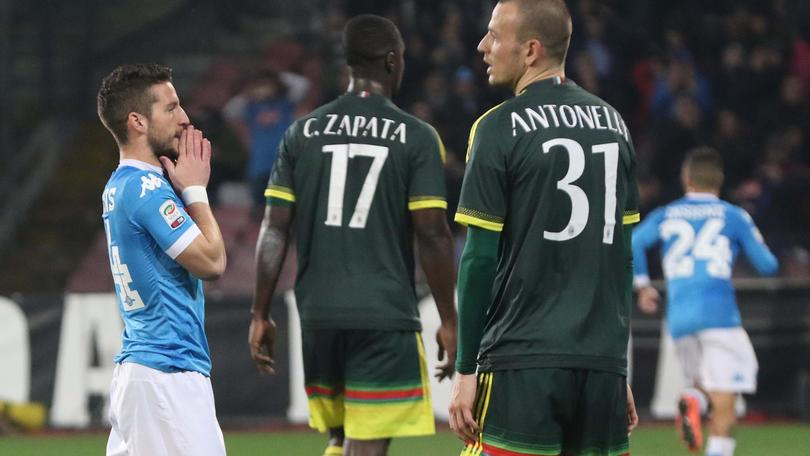 Serie A, Napoli-Milan 1-1: Bonaventura risponde a Insigne