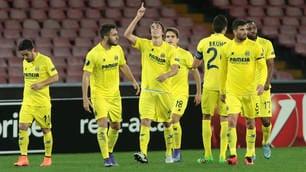 Europa League, Napoli-Villarreal 1-1: Pina beffa gli azzurri