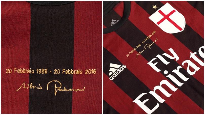 Milan, la maglia per i 30 anni di presidenza Berlusconi