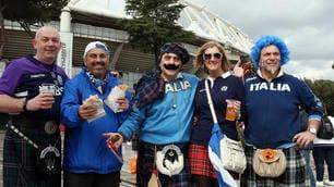 Sei Nazioni, Italia-Scozia: lo spettacolo dei tifosi