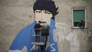 Napoli, al via il restauro del murales dedicato a Maradona