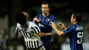 Coppa Italia, Inter-Juventus: scintille tra Perisic e Cuadrado