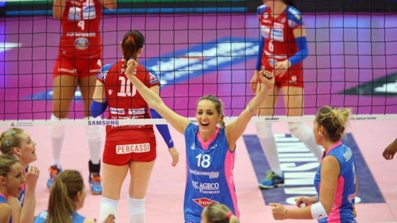 Volley: A1 Femminile, nel posticipo Piacenza supera Bergamo