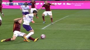 Roma, Digne su Tello: rigore per la Fiorentina