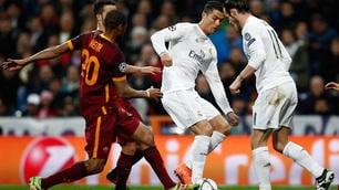 Champions Real-Roma, le emozioni del match