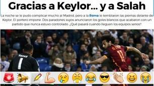 Roma fuori dalla Champions, passa il Real. I siti spagnoli: Graçias Salah