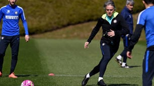 Inter, Mancini show in allenamento!