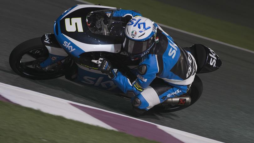 Moto3 Sky Team, Fenati: «Contento del primo giorno di test»
