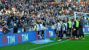 Udinese, squadra contestata alla fine della partita