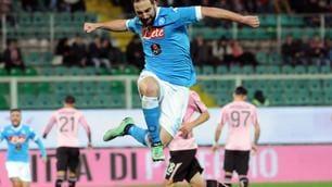 Palermo-Napoli 0-1, Higuain fa la differenza su rigore