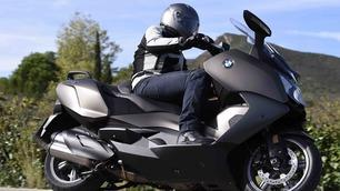 BMW C650GT: in movimento