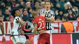 Bayern Monaco-Juventus, scintille tra Vidal e Cuadrado