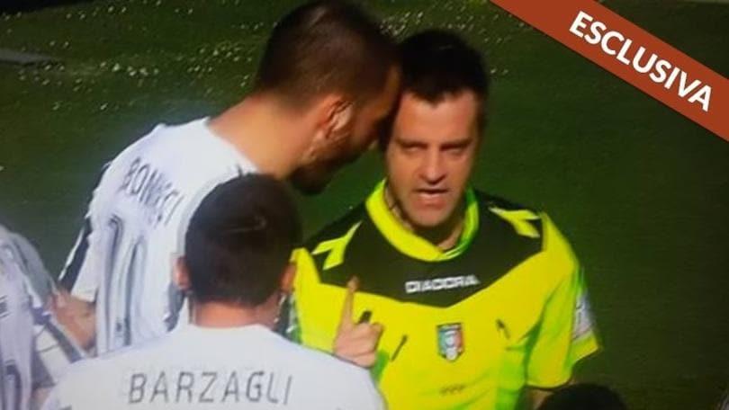 Rizzoli confessa: Bonucci non mi ha dato nessuna testata. Ma a Torino ho arbitrato male
