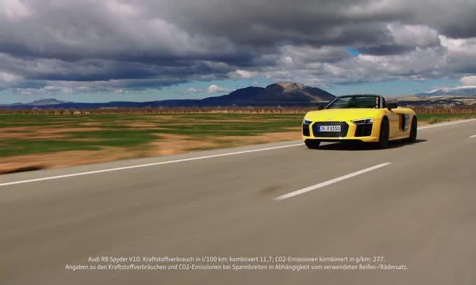 Nuova Audi R8 V10 Spyder, il primo video