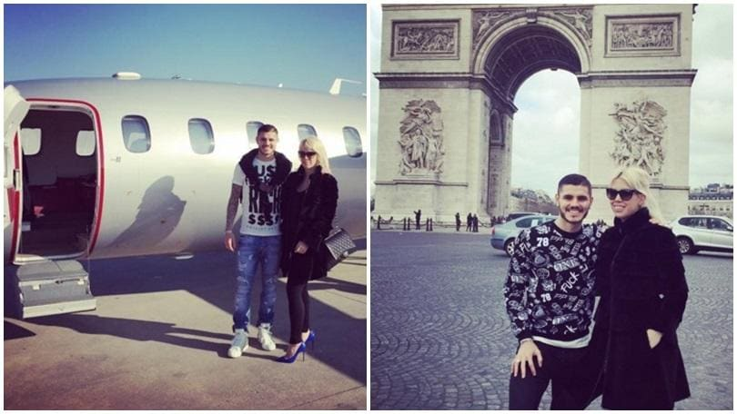 Mauro Icardi e Wanda Nara, viaggio romantico a Parigi