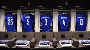 Italia-Spagna, lo spogliatoio degli azzurri
