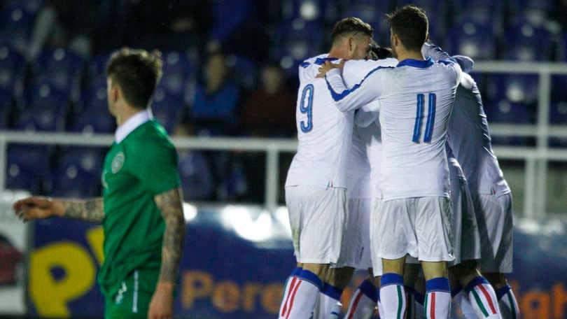 Under 21 Irlanda-Italia 1-4: azzurri travolgenti, rimontano e calano il poker