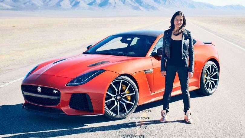 Michelle Rodriguez, Fast and Furious con la nuova F-Type