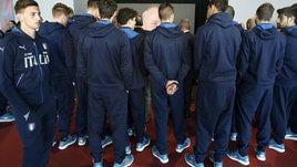 L'Italia Under 21 al Camp Nou per rendere omaggio a Cruyff