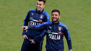 Euro 2016 Italia, El Shaarawy e Insigne che allegria in allenamento