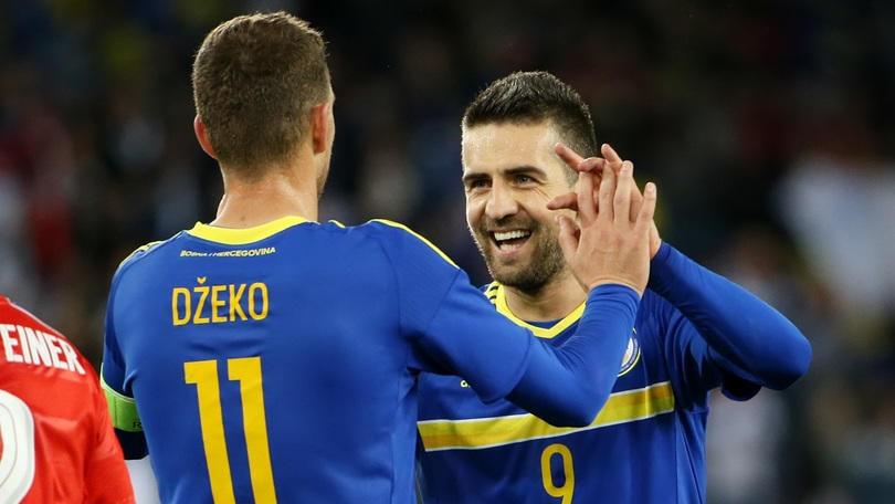Amichevoli Internazionali: Svizzera-Bosnia 0-2, in gol Dzeko e Pjanic