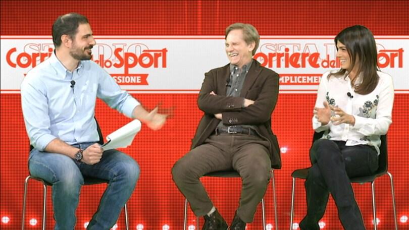Valeria Solarino e Giulio Scarpati al Corriere dello Sport-Stadio: «Totti è il Kubrick del calcio»