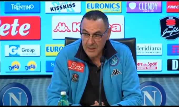 """Sarri: """"Giocare dopo la Juve è un macigno sulla testa"""""""