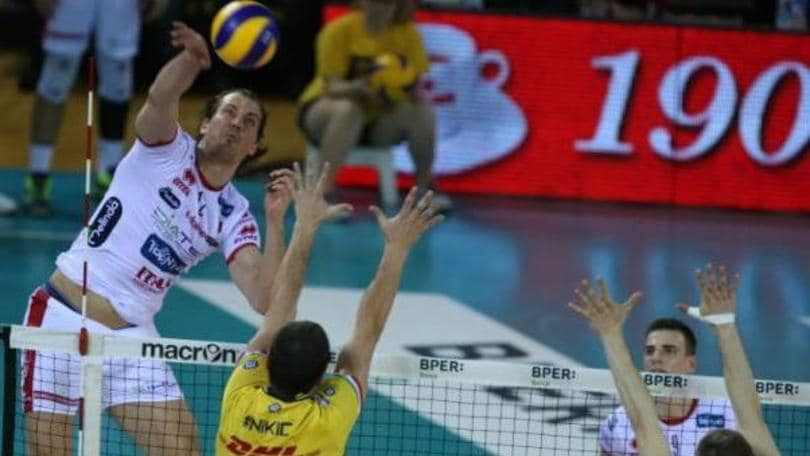 Volley: Semifinale Play Off, Modena vince il primo round con Trento