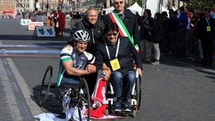 Maratona di Roma,Handbike: Alex Zanardi show, quinta vittoria su 6 partecipazioni