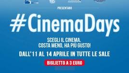 CinemaDays, quattro giorni in sala a soli 3 euro