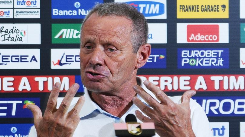 Palermo, Zamparini: «La squadra sta con Corini? Per me contano i fatti»