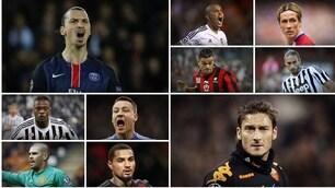 Affari d'oro: da Evra ad Ibra, da Totti a Terry, la top 20 degli svicolati