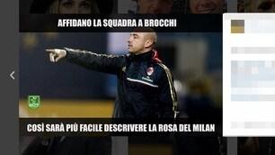 Milan, via Mihajlovic ecco Brocchi. L'ironia dei tifosi sul web: «Ma non eravamo da scudetto?»