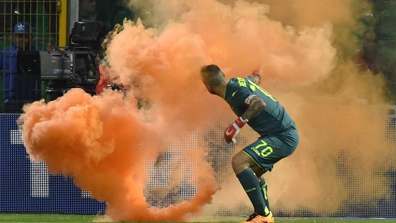 Palermo-Atalanta a porte chiuse. Multe a Verona e Napoli