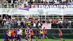 Fiorentina, quanti tifosi a vedere l'allenamento dei viola!