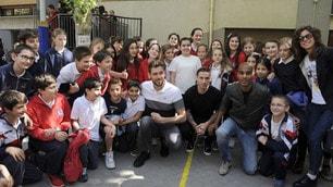 La Lazio nelle scuole: Biglia, Konko e Berisha all'Istituto Maria Ausiliatrice