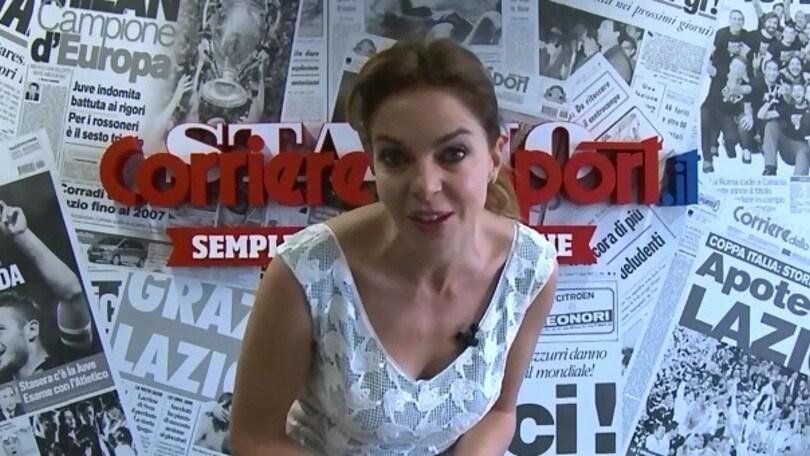 Claudia Gerini: «Spalletti sbagli, Totti non si tocca!»